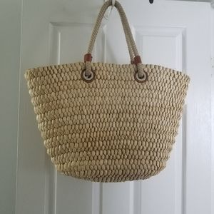 Land's End straw tote